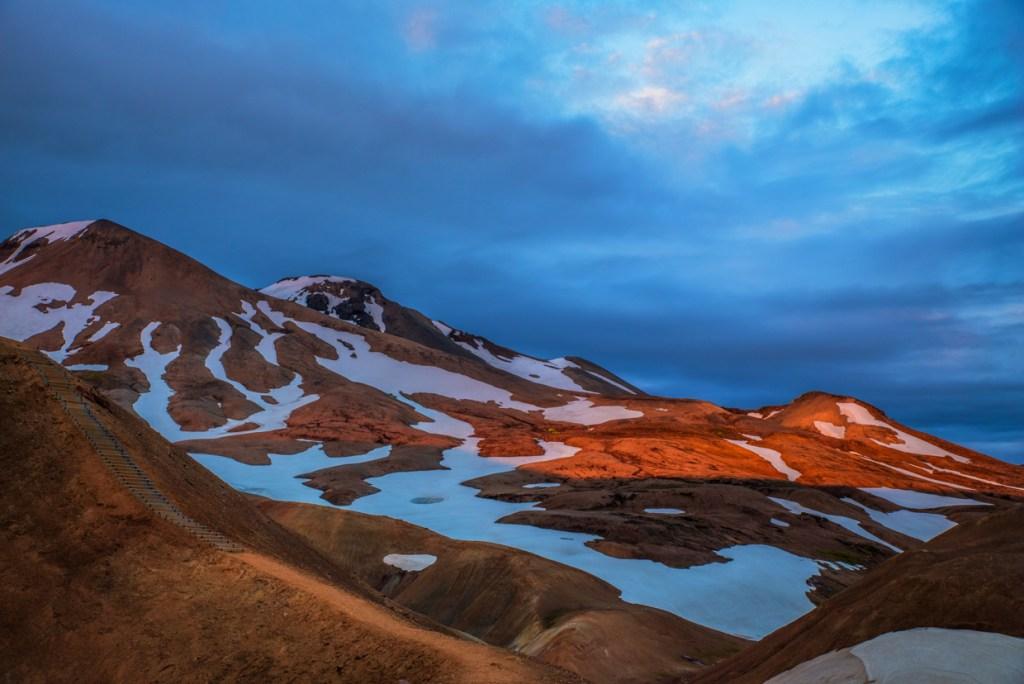 Sunset at Kerlingarfjöll geothermal area