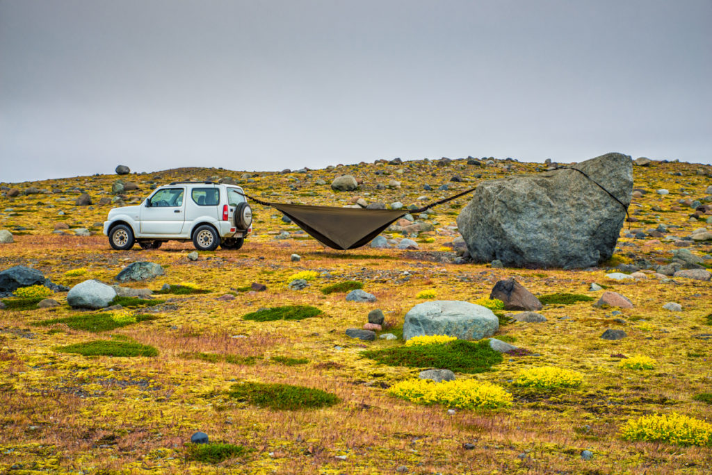 People camping near Breiðárlón