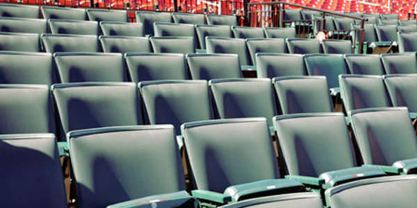 These are the green seats. They cost $14,000/year for one seat. And you have to make a 10-year commitment. I'm pretty sure this is is the closest I'll ever get to the green seats.