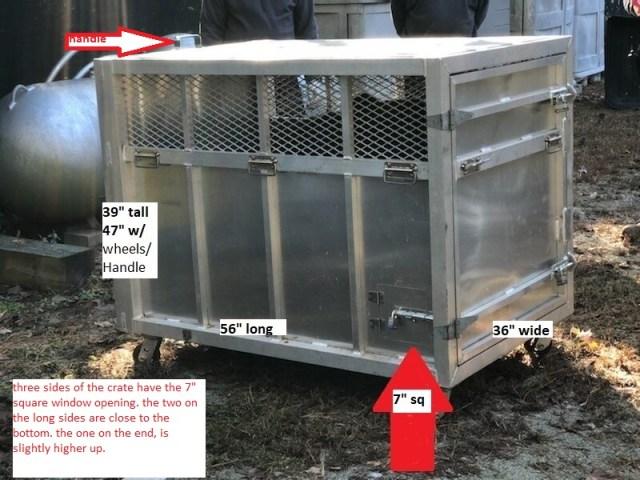 Bear crate with description