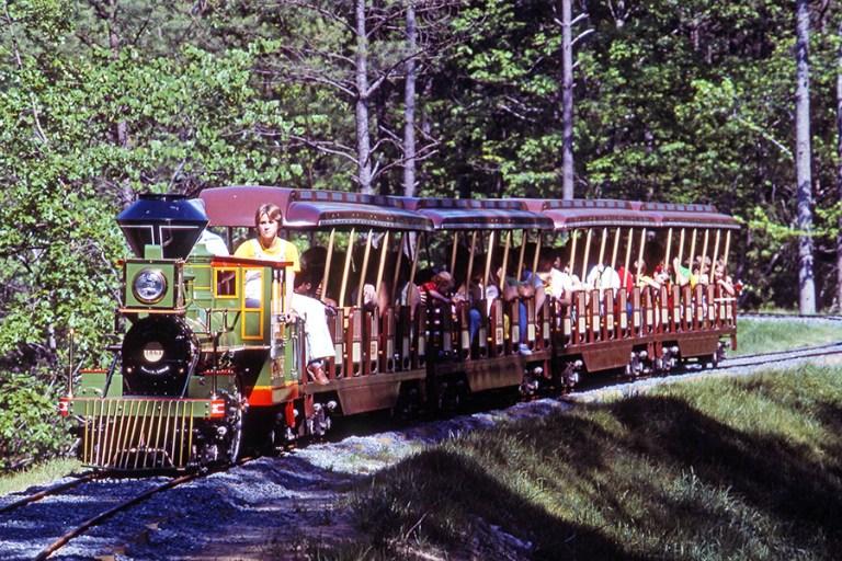 The Museum's replica train ride, circa 1977.