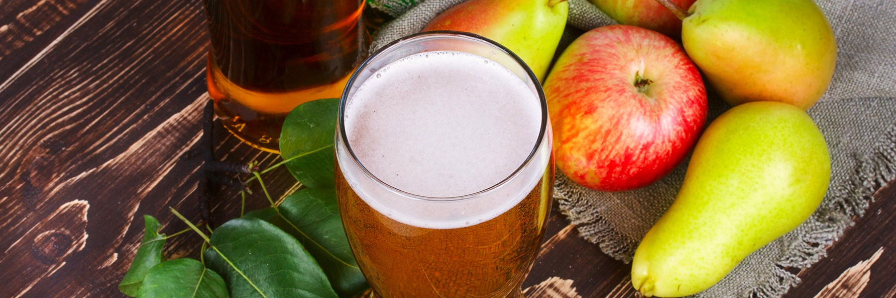 Cider and fruits
