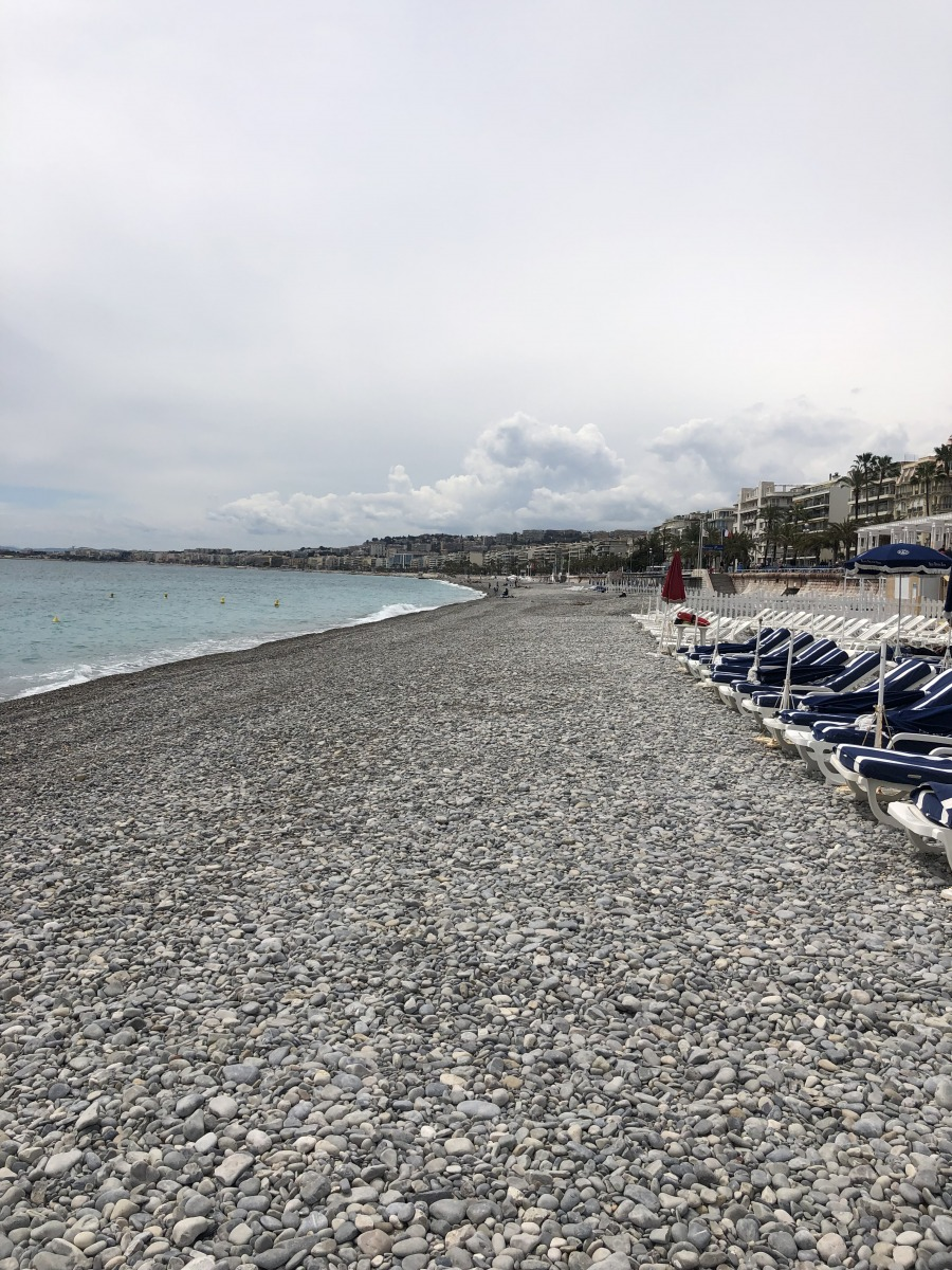 Blue Beach in Nice France