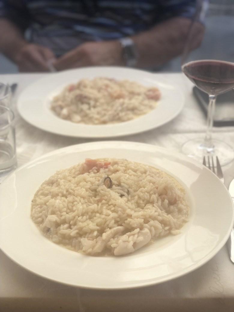 Seafood Risotto at L'Olivo di Tia in Pietrasanta, Italy
