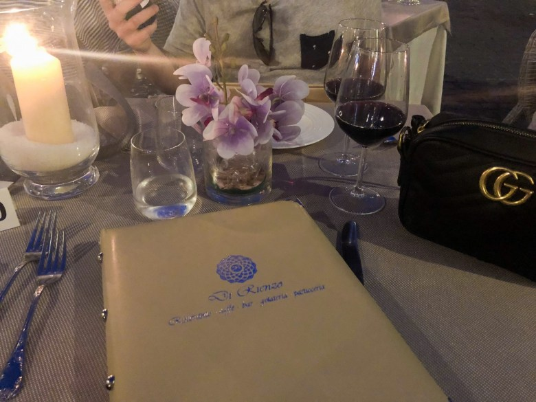 Travel Diary | Dinner at Cafe Rienzo in Rome, Italy