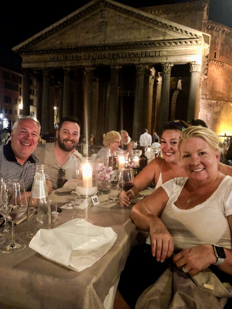 Travel Diary | Dinner at Cafe Rienzo next to The Pantheon in Rome, Italy