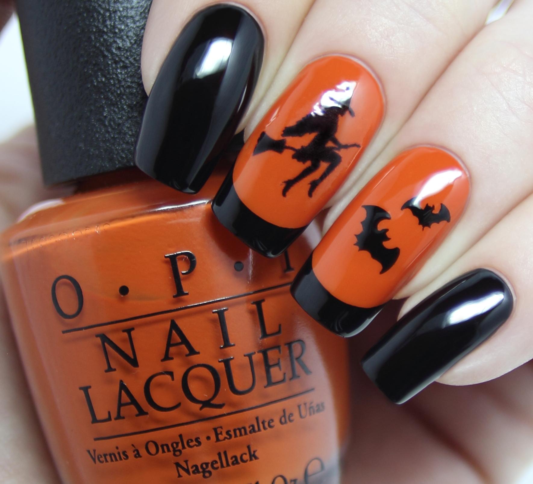 easy halloween nail art design