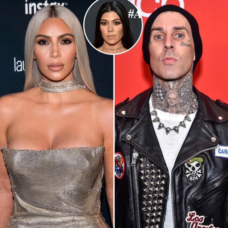 Kim Kardashian Slams Rumors She Hooked Up With Travis Barker False Narrative