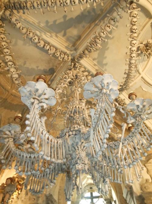 bone chandelier
