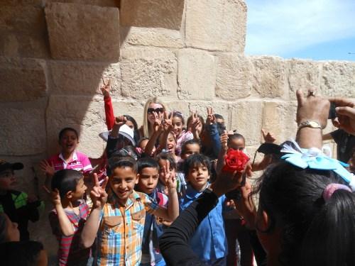 Local celebrity in Jerash!