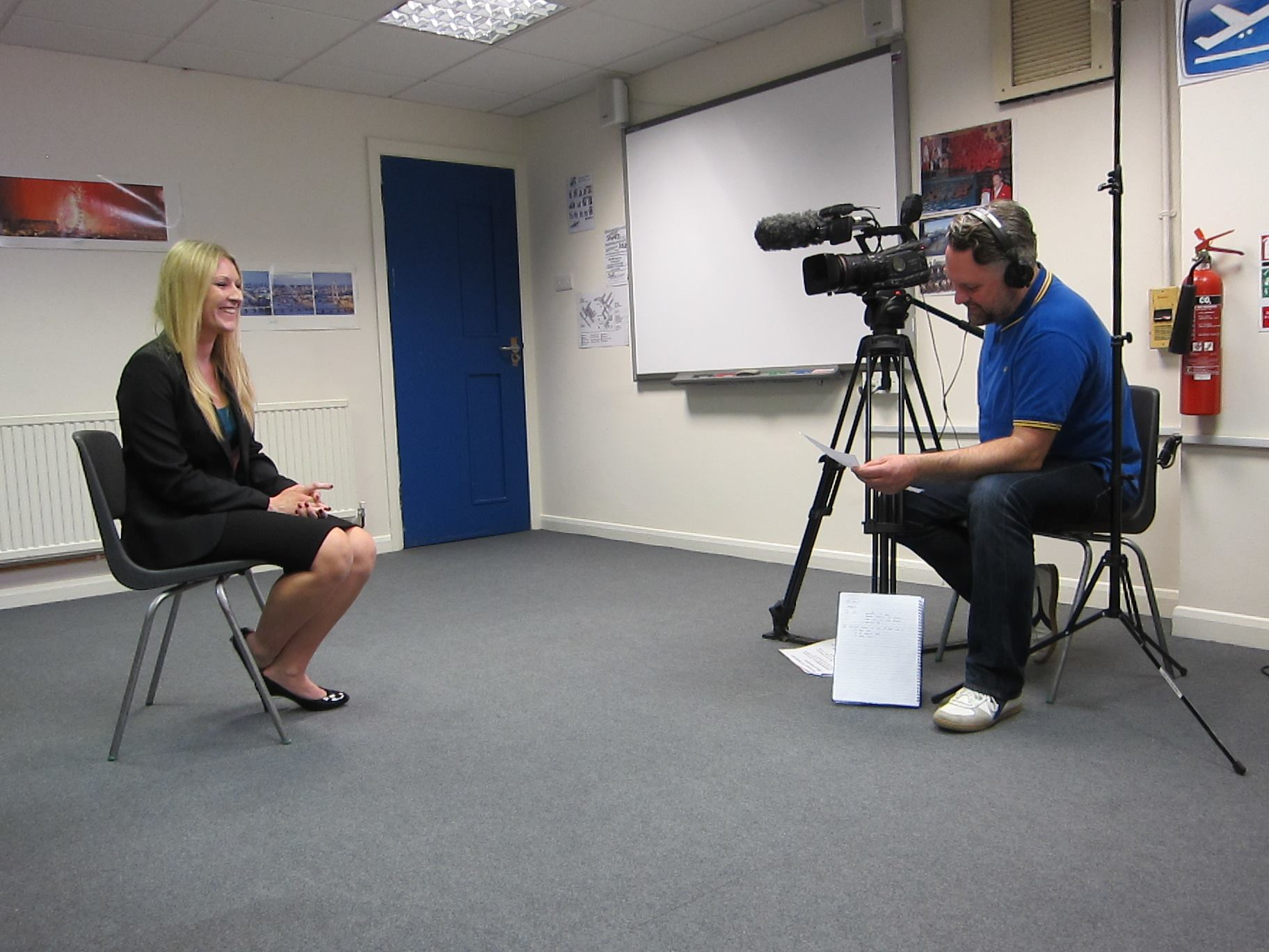 Hayley Wright filming Angry Britain
