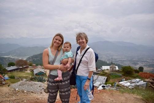 Kathmandu with a baby