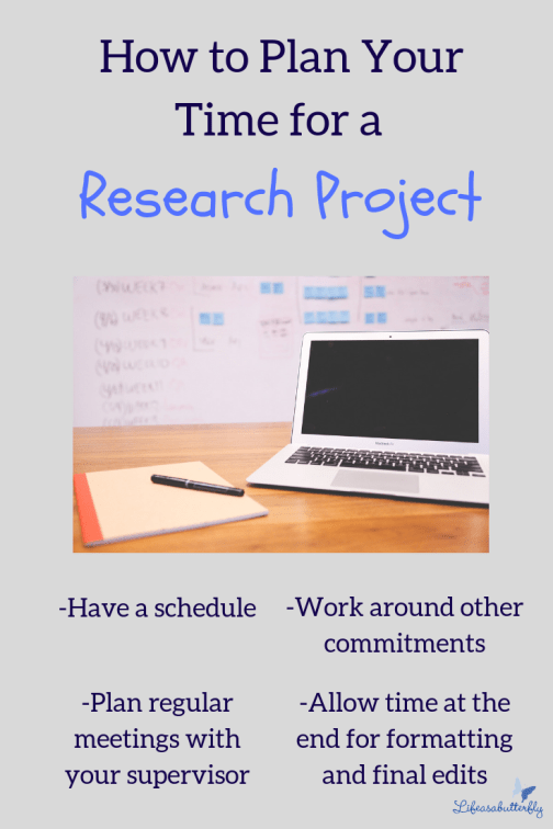 plan your time for a research project
