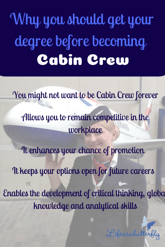Why you should get your degree before becoming Cabin Crew