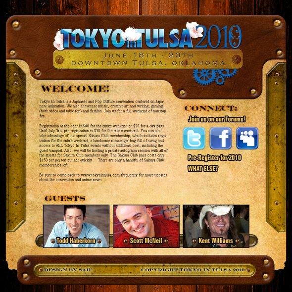 The Tokyo in Tulsa 2010 website design