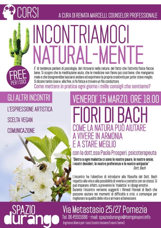 """Seminario """"Fiori di Bach. Come la Natura può aiutare a vivere in armonia e a stare meglio"""""""