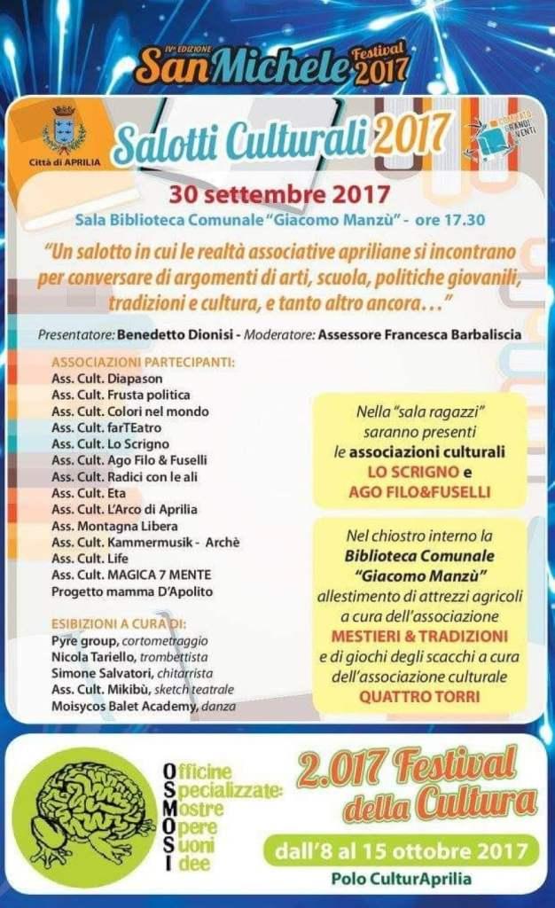 Salotti Culturali San Michele 2017