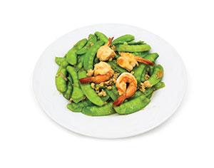 Stir-fried-prawns,-snow-peas-and-tofu