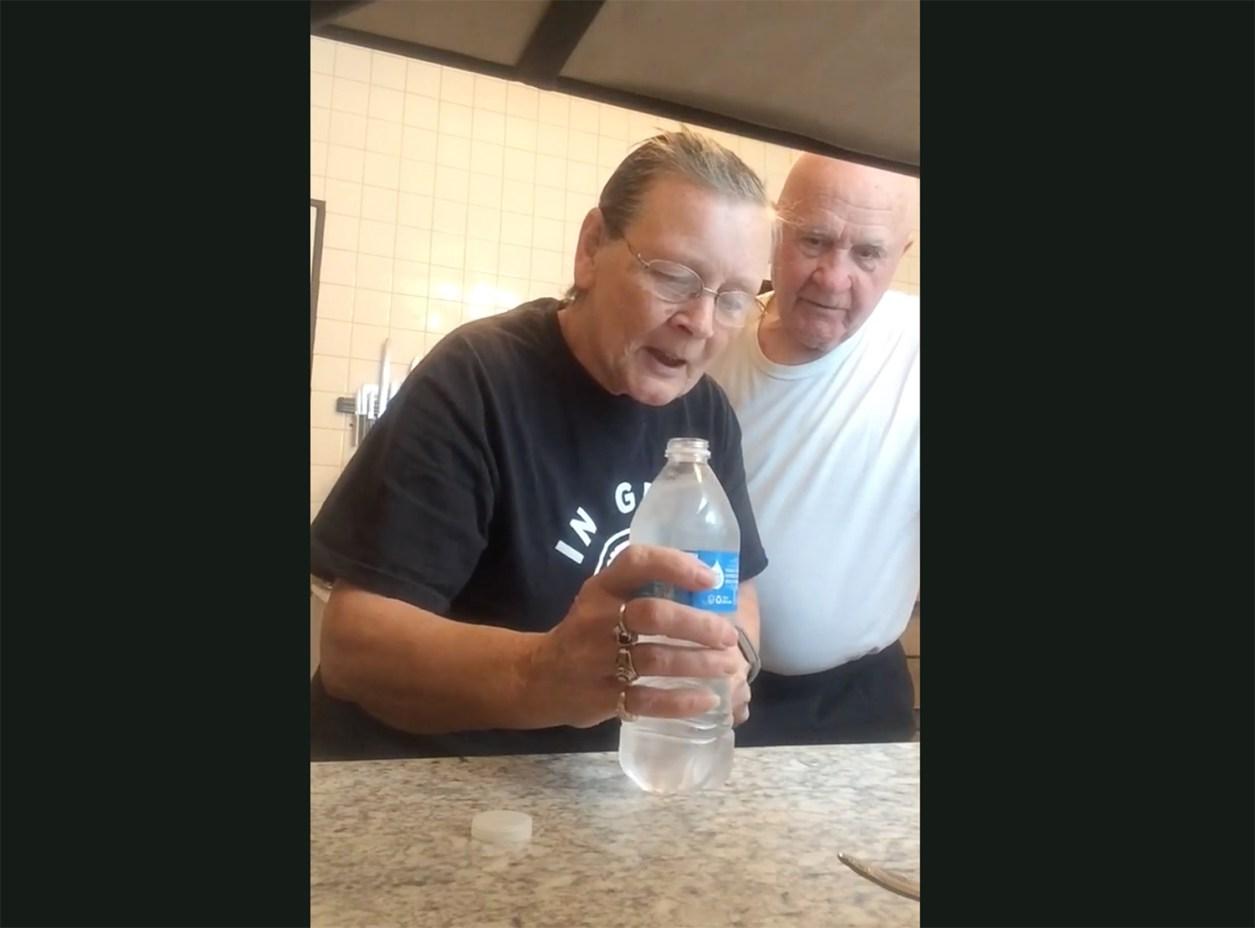 water bottle prank