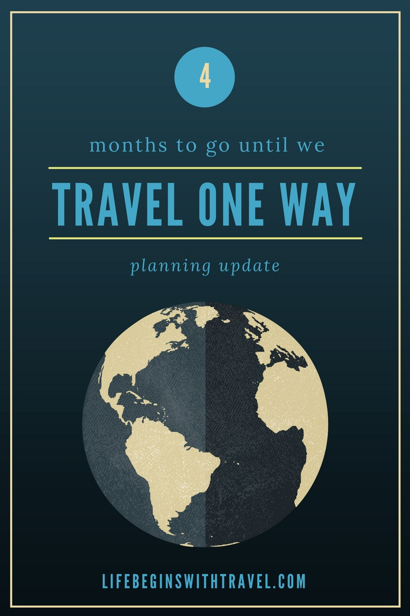 4 months to go until we travel long-term Pinterest