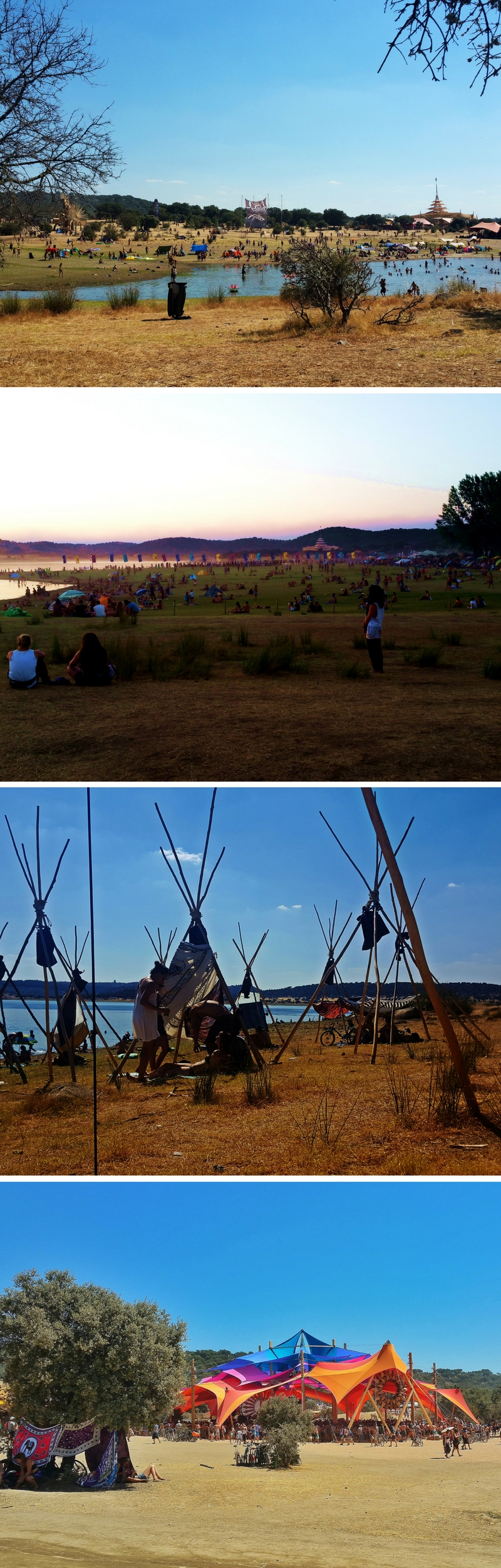 The beautiful setting of Boom Festival 2016, with Lake Idanha-a-Nov as its backdrop