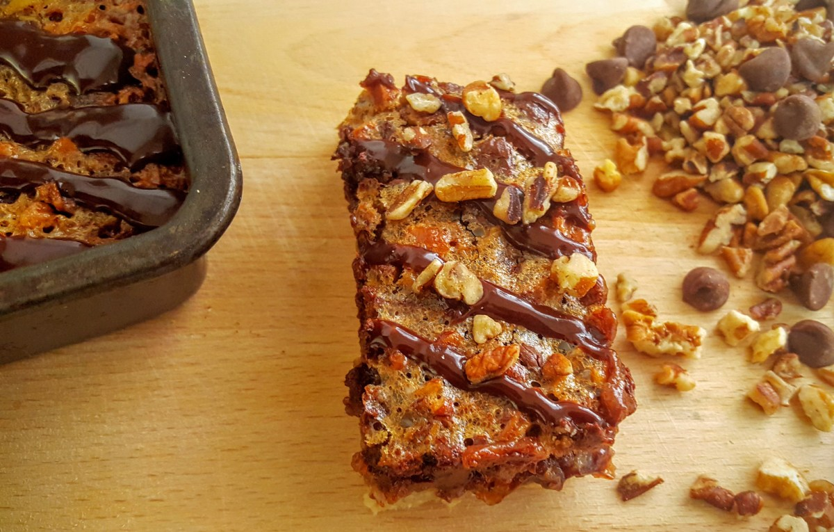 Accidentally Awesome Fudge Pecan Pie Bars