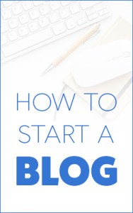 How to start a ablog