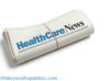 HealthCare News Newspaper roll with white background