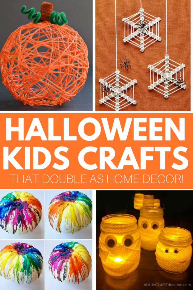 Halloween Kids Crafts that Double as Decor!