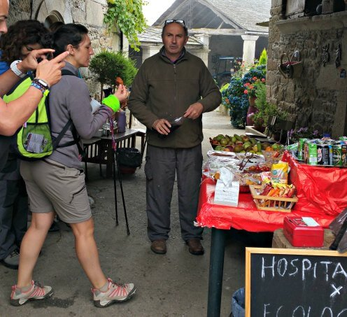 Many homeowners provided for pilgrims by setting out food and drink in exchange for a donation ~ Life Beyond the Kitchen