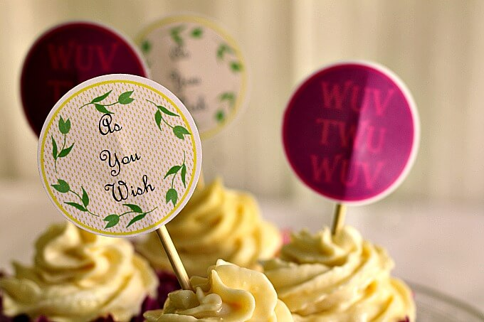 Princess Bride themed cupcake toppers ~ Life Beyond the Kitchen