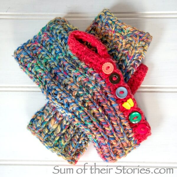 Knit and Crochet Fingerless Gloves from Sum of Our Stories ~ Featured Project ~ Life Beyond the Kitchen