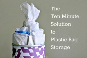 The 10 Minute Solution for Plastic Bag Storage