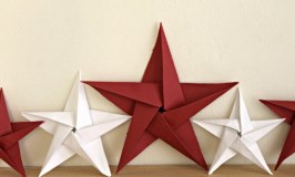 Red and White Paper Stars For A Patriotic Display {Creative Craft Bloggers Challenge}