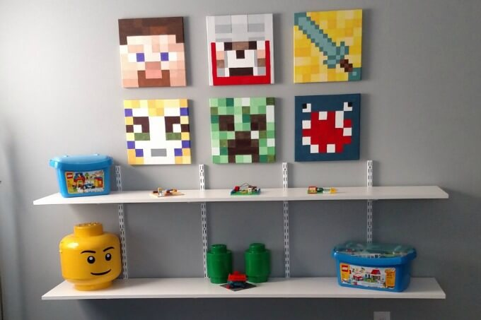 Minecraft Room Makeover from Domestic Deadline ~ Creatively Crafty Feature #ccbg ~ Life Beyond the Kitchen