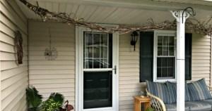 Grapevine Swag for A Porch