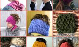 A Dozen Messy Bun Hats to Knit and Crochet