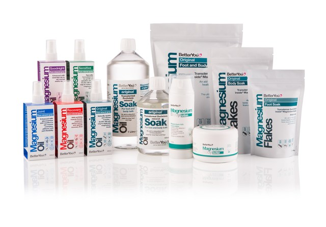 A full range of Better You magnesium products
