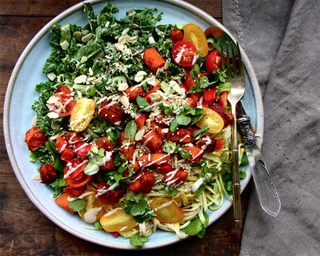 Tandoori sweet potato salad vegan meal idea