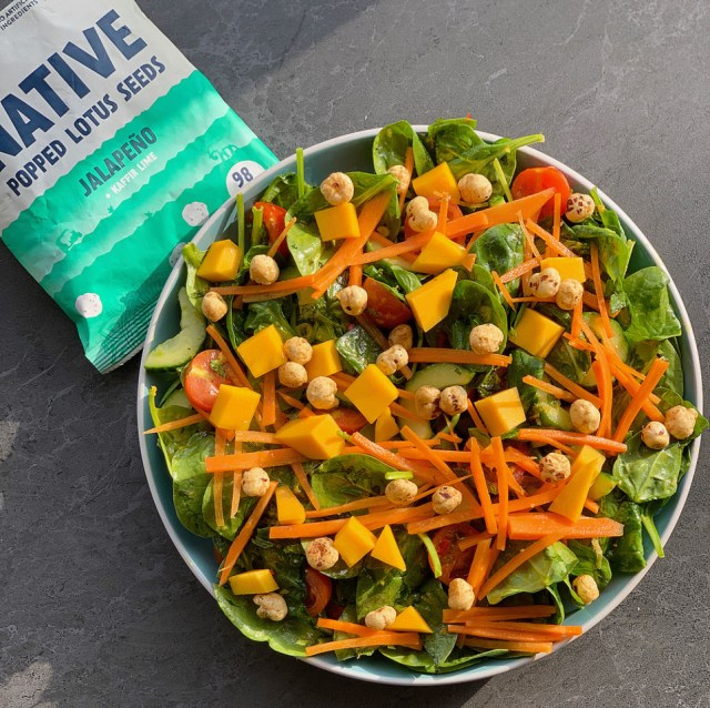 A healthy Native Lotus Seeds Vegan salad