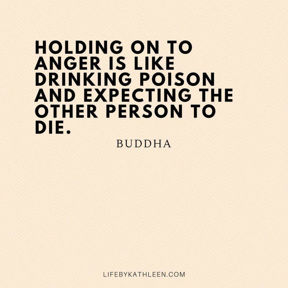 Holding onto anger is like drinking poison and expecting the other person to die - Buddha #buddha #buddhaquotes #quotes