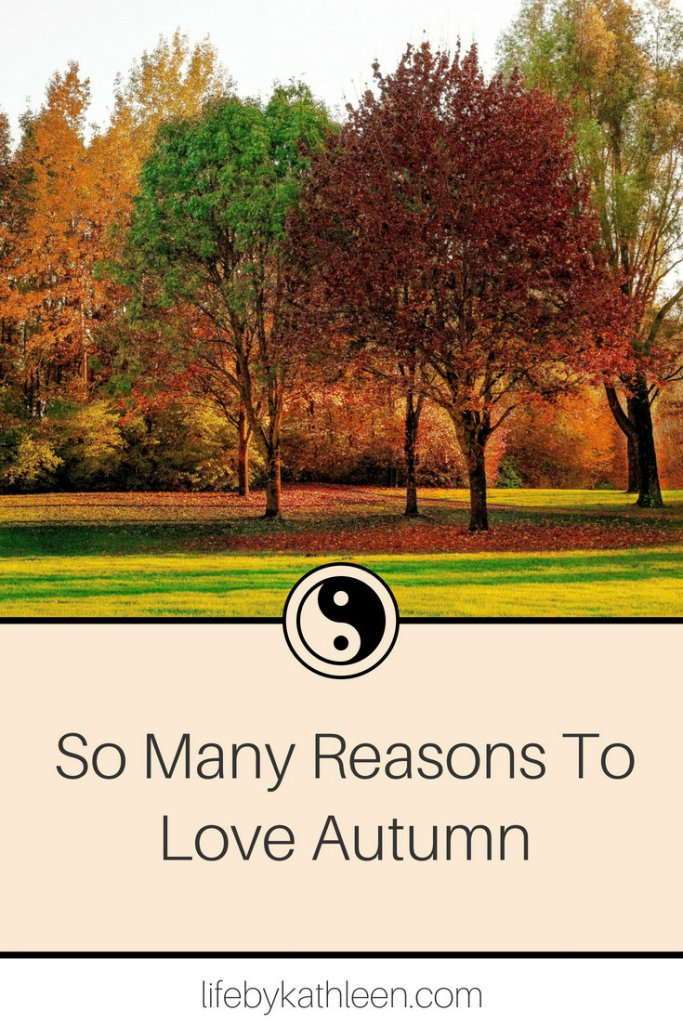 autumn trees. text overlay so many reasons to love autumn