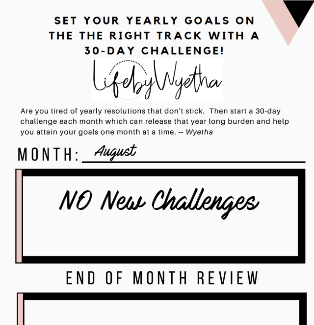 30-Day Challenge Printable