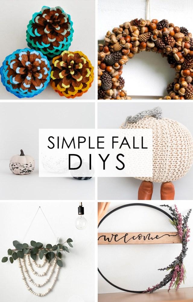simple fall diys