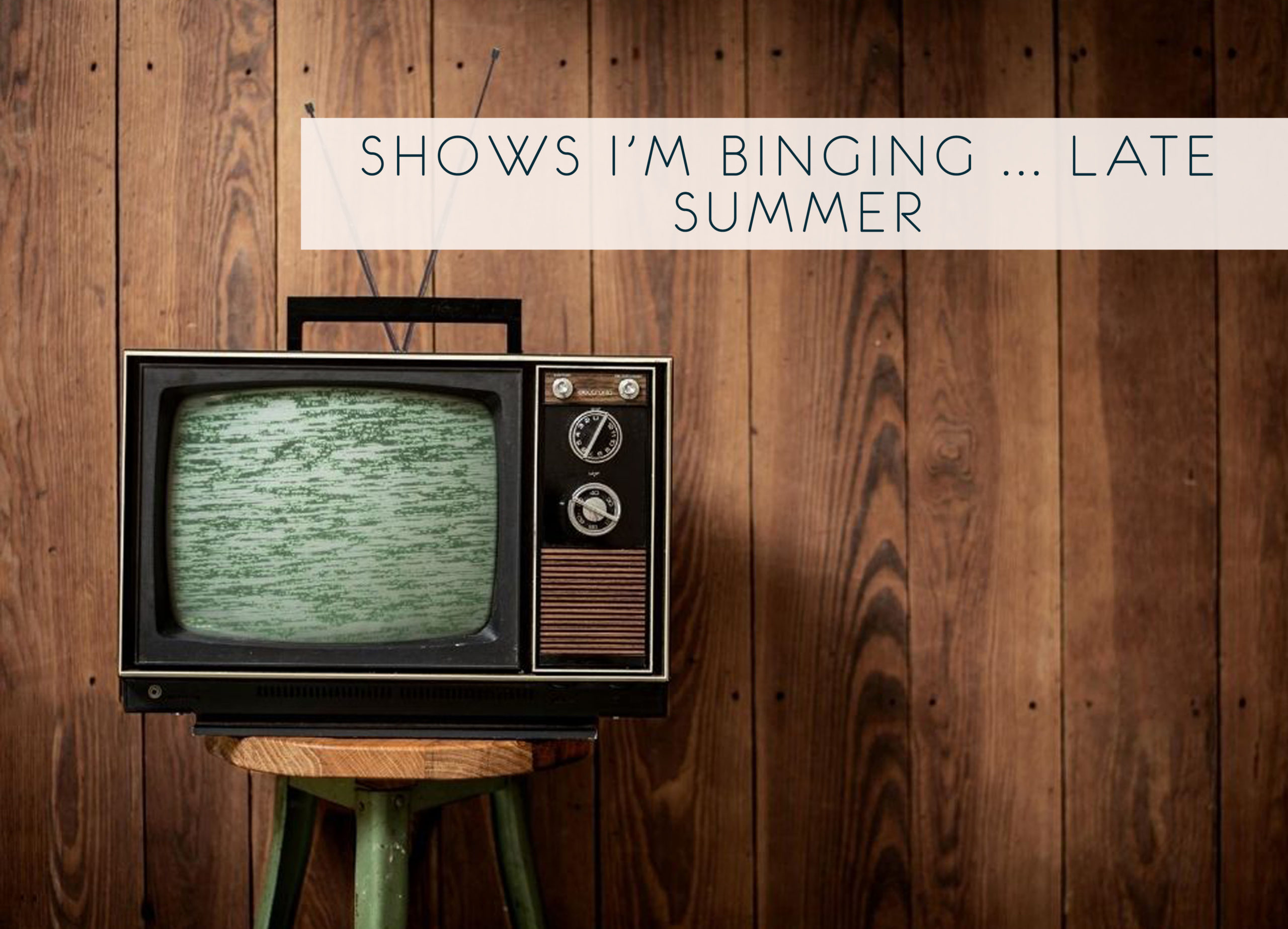 Shows I'm Binging … Late-Summer