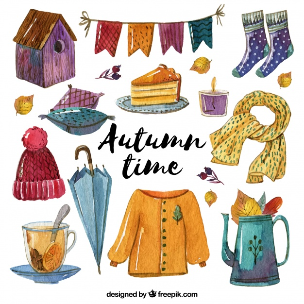 pretty-clothes-with-autumnal-watercolor-accessories