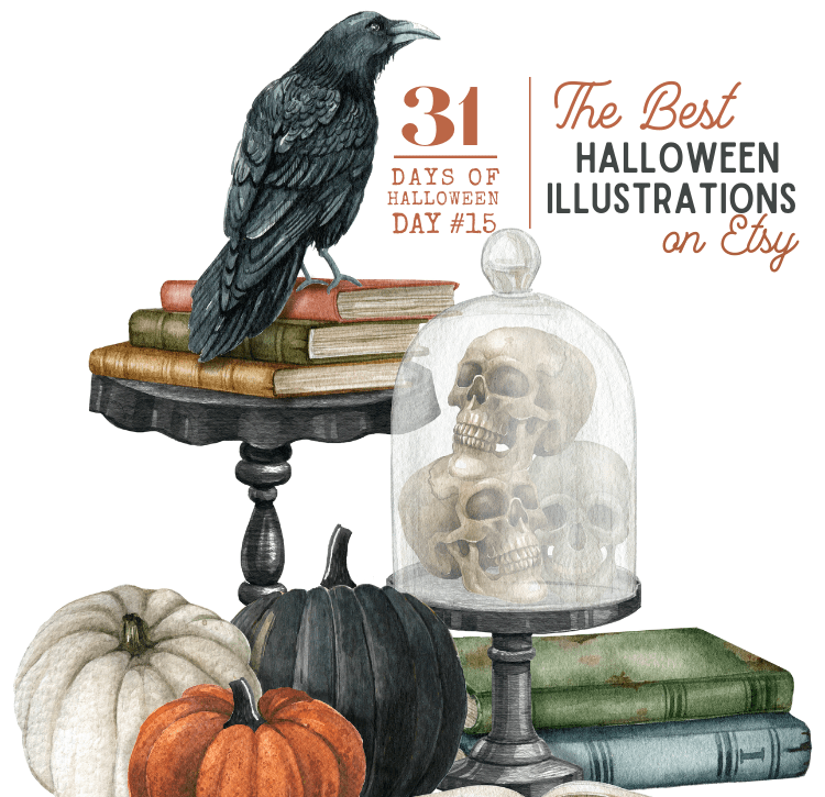 31 Days of Halloween: Day #15 … The Best Halloween Inspired Illustrations on Etsy