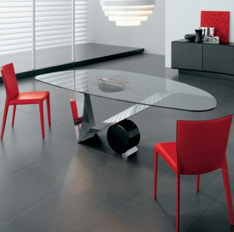 red-dining-table