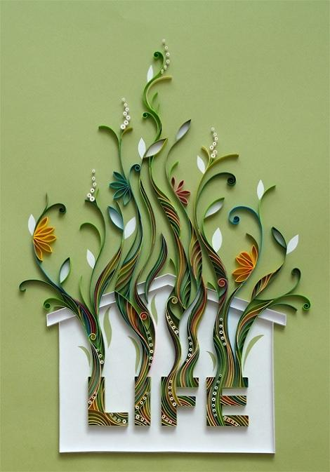 Amazing paper quilling patterns and designs life chilli for How to quilling designs