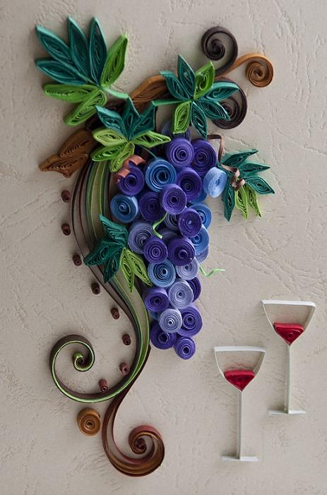 grapes-quilling